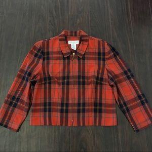 Vintage Jessica Howard Orange Plaid Jacket